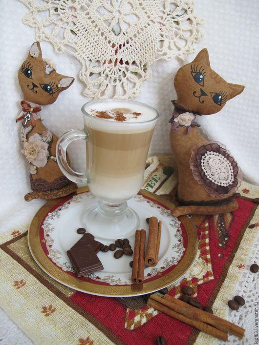 """Игрушки животные, ручной работы. Ярмарка Мастеров - ручная работа. Купить Ароматная кошечка """"кофе и ваниль"""" и  """"кофе и шоколад""""(повтор). Handmade."""