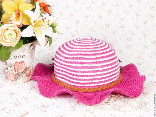 Шапки и шарфы ручной работы. Ярмарка Мастеров - ручная работа. Купить Шляпа соломенная Laura. Handmade. Фуксия, шляпка соломенная