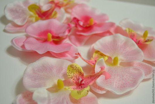 Материалы для флористики ручной работы. Ярмарка Мастеров - ручная работа. Купить Цветы орхидеи большие. Handmade. Декоративные цветы, розовый