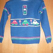 Работы для детей, ручной работы. Ярмарка Мастеров - ручная работа вязаный детский свитер. Handmade.
