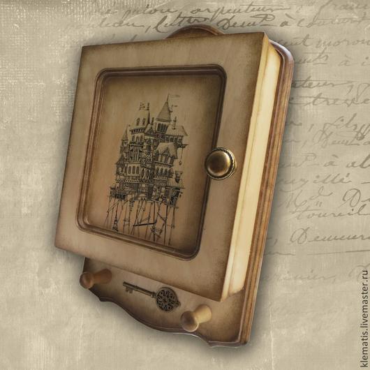 Прихожая ручной работы. Ярмарка Мастеров - ручная работа. Купить Ключница  Ключик от дома (ключница настенная, ключница светлая). Handmade.