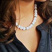 Украшения handmade. Livemaster - original item Necklace snow quartz. Handmade.