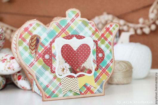 Чайники, кофейники ручной работы. Ярмарка Мастеров - ручная работа. Купить Чайник для чайных пакетиков. Handmade. Голубой, чайная шкатулка