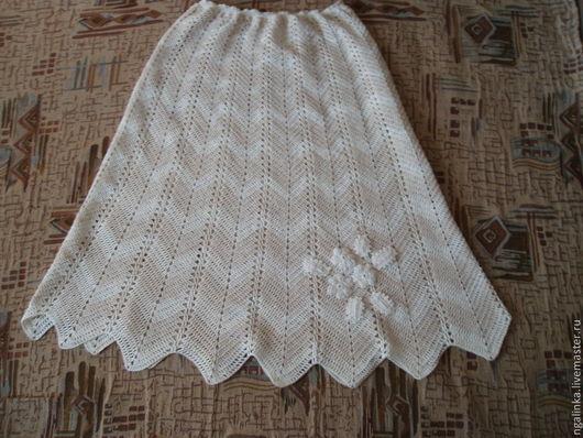 Юбки ручной работы. Ярмарка Мастеров - ручная работа. Купить юбка из хлопка Летняя. Handmade. В полоску, юбка вязаная