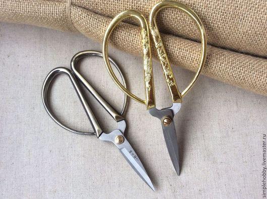Шитье ручной работы. Ярмарка Мастеров - ручная работа. Купить Ножницы рукодельные, 2 вида. Handmade. Вышивание, стальной, для рукоделия