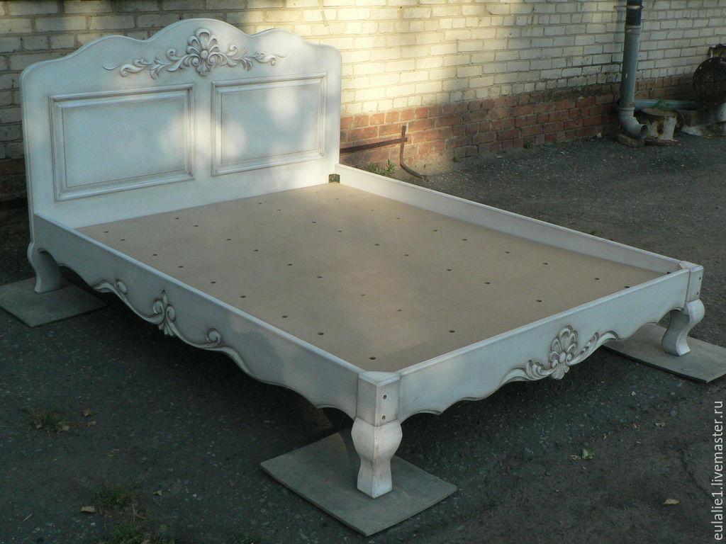 Кровать с ручной резьбой, Кровати, Таганрог,  Фото №1