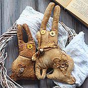 Куклы и игрушки ручной работы. Ярмарка Мастеров - ручная работа Чердачный, кофейный примитив. Кролик.. Handmade.