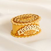 Свадебный салон handmade. Livemaster - original item Jewelry box for engagement rings,