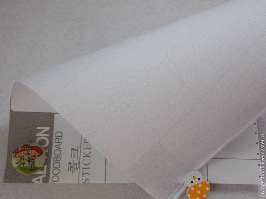 Шитье ручной работы. Ярмарка Мастеров - ручная работа. Купить Велкроткань Белая. Handmade. Белый, велкро, велкроткань, самоклейка, ковролинограф