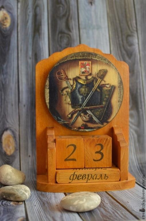 Персональные подарки ручной работы. Ярмарка Мастеров - ручная работа. Купить Вечный календарь Мой рыцарь. Handmade. Коричневый, подарок