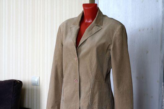 Одежда. Ярмарка Мастеров - ручная работа. Купить 20 Пиджак вельветовый с эластаном Comma 48 50. Handmade. Пиджак