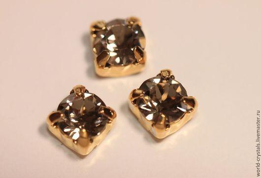Кристаллы № 284 GREIGE. Ювелирные касты под золото.
