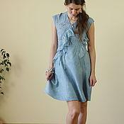 Одежда ручной работы. Ярмарка Мастеров - ручная работа Валяное платье Ниагара. Handmade.