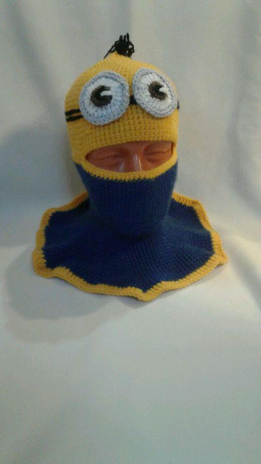 Шапки и шарфы ручной работы. Ярмарка Мастеров - ручная работа. Купить Шапка Миньон-2. Handmade. Желтый, шапка детская