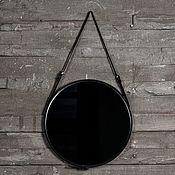 Для дома и интерьера ручной работы. Ярмарка Мастеров - ручная работа Зеркало в кожаной раме ЛОФТ. Handmade.