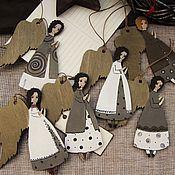 Подарки к праздникам ручной работы. Ярмарка Мастеров - ручная работа Ангелы в серых тонах. Handmade.