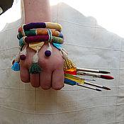 """Украшения ручной работы. Ярмарка Мастеров - ручная работа """"Марракеш"""" текстильный браслет. Handmade."""