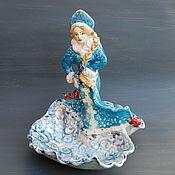 Для дома и интерьера handmade. Livemaster - original item The snow maiden.Porcelain sculpted vase. Handmade.