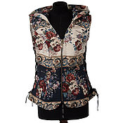 Одежда handmade. Livemaster - original item Designer zipper vest with corset lacing. Handmade.