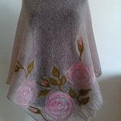 """Одежда ручной работы. Ярмарка Мастеров - ручная работа Пончо""""Веточка розы"""". Handmade."""