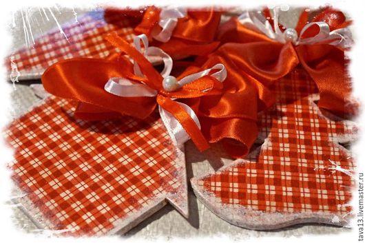 Новогодние украшения, подвески, сувениры, декупаж, подарок,