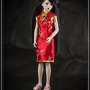 Одежда для кукол ручной работы. Ярмарка Мастеров - ручная работа Платье для куклы БЖД SMD (1/4). Handmade.