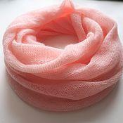 Аксессуары handmade. Livemaster - original item LIC knitted from kid mohair (soft pink). Handmade.