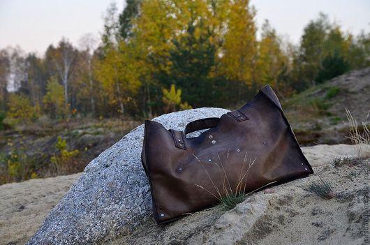 Женские сумки ручной работы. Ярмарка Мастеров - ручная работа. Купить Очень большая, надежная СУМКА - ШОППЕР из натуральной мягкой кожи. Handmade.