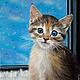 Животные ручной работы. Ярмарка Мастеров - ручная работа. Купить Сиа (заказ). Handmade. Кот, кошка, окно
