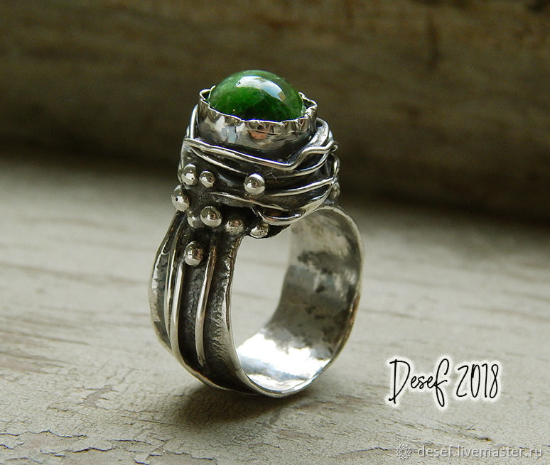The ring 'SKIF' with diopside, Rings, Kurgan,  Фото №1