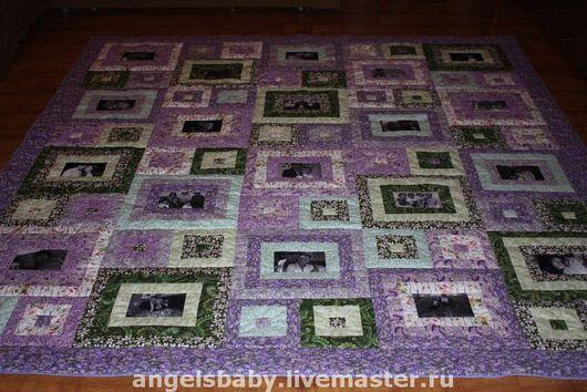 Текстиль, ковры ручной работы. Ярмарка Мастеров - ручная работа. Купить Лоскутное покрывало  с фотографиями. Handmade. Лоскутное одеяло