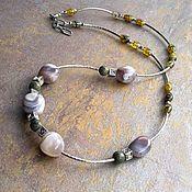Украшения handmade. Livemaster - original item A necklace with natural stones. Necklace with agate and jasper. Handmade.