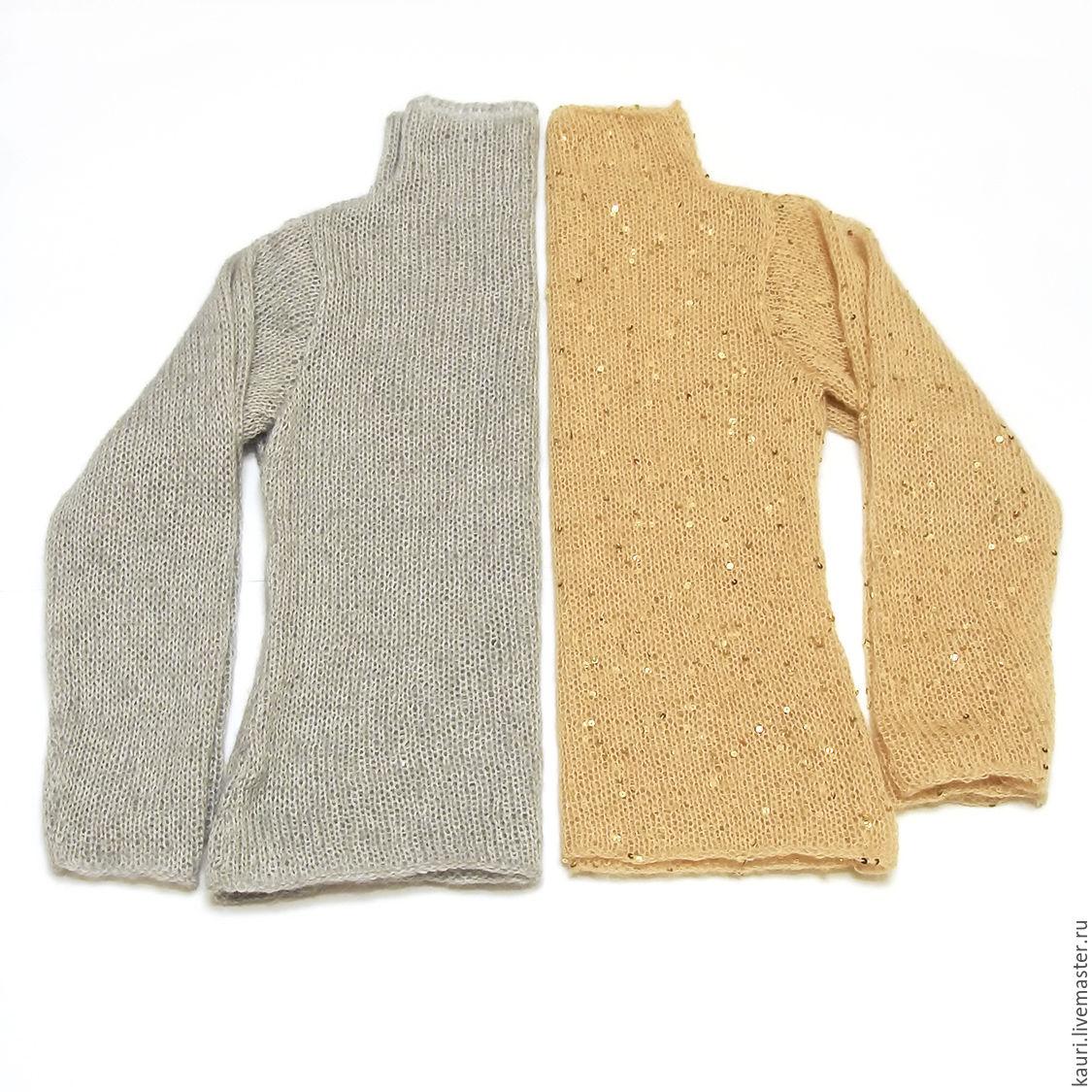Пуловер из кид мохера