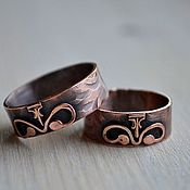 Украшения handmade. Livemaster - original item Copper rings for wedding. Handmade.