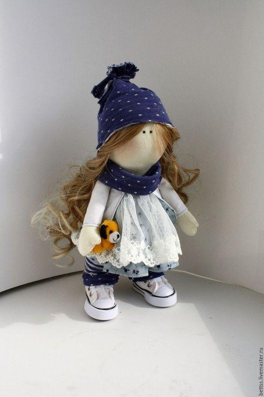 Коллекционные куклы ручной работы. Ярмарка Мастеров - ручная работа. Купить Стефани - кукла текстильная ручной работы. Handmade. Синий