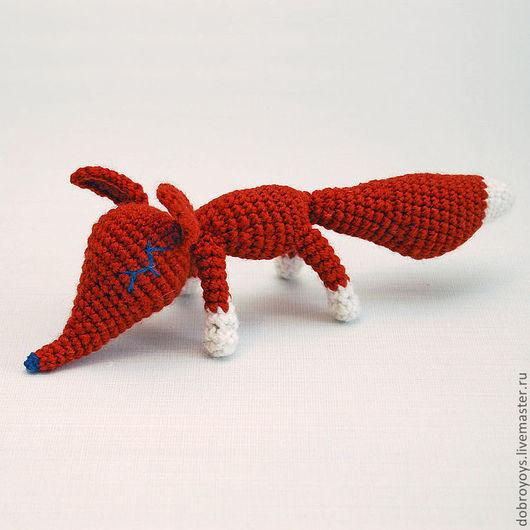 Игрушки животные, ручной работы. Ярмарка Мастеров - ручная работа. Купить Лисичка в мечтах красная. Handmade. Ярко-красный