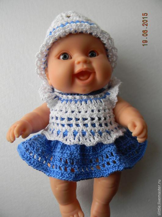 Одежда для кукол ручной работы. Ярмарка Мастеров - ручная работа. Купить Наборчик на пупса 22 см. Handmade. платье для куклы
