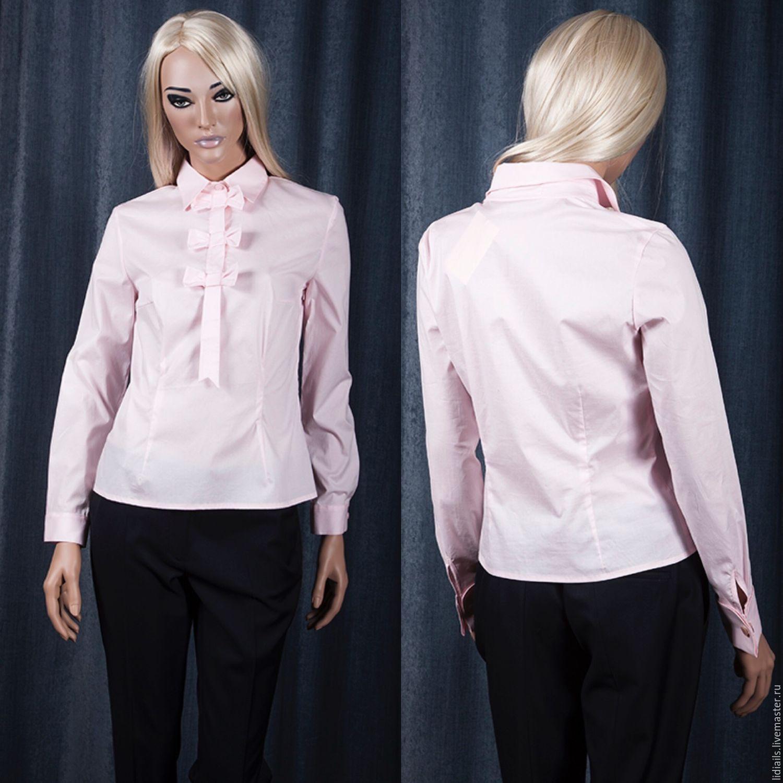 Pink shirt 'Bows, Blouses, Nizhny Novgorod,  Фото №1
