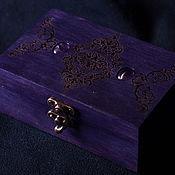 "Шкатулки ручной работы. Ярмарка Мастеров - ручная работа Шкатулка для карт Таро ""Violet"". Handmade."