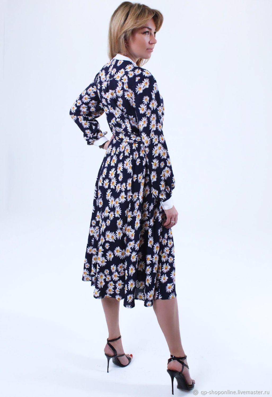 1a1fe304dd4 Платья ручной работы. Ярмарка Мастеров - ручная работа. Купить Платье синие  в ромашки.