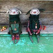 Куклы и игрушки ручной работы. Ярмарка Мастеров - ручная работа Зверюшки пучеглазые, домашние. Handmade.