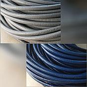 Материалы для творчества handmade. Livemaster - original item Leather cord 4 mm round cross-section (art. 2110). Handmade.