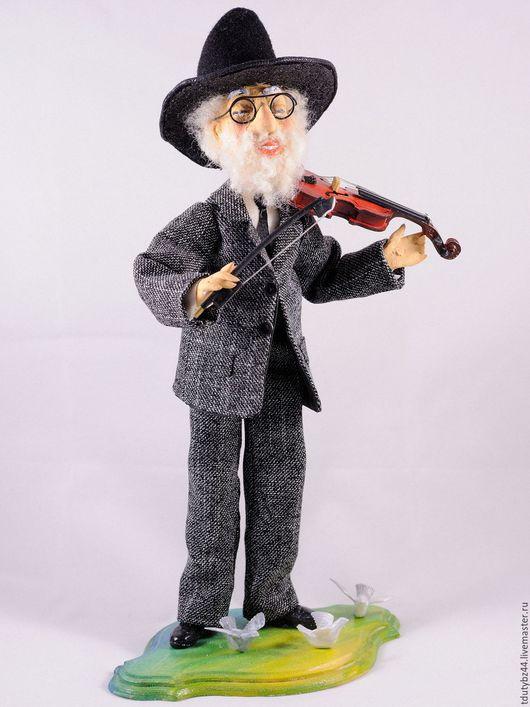 Коллекционные куклы ручной работы. Ярмарка Мастеров - ручная работа. Купить СКРИПАЧ авторская кукла. Handmade. Черный, еврей