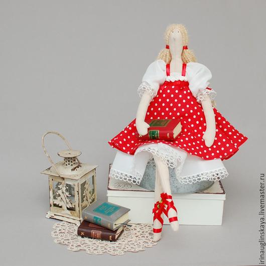 """Куклы Тильды ручной работы. Ярмарка Мастеров - ручная работа. Купить Кукла тильда """"Ева"""". Handmade. Ярко-красный"""
