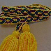 "Аксессуары handmade. Livemaster - original item Пояс кумихимо ""Витраж"". Handmade."