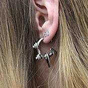 Single earring handmade. Livemaster - original item Churjen, earring 3-6 cent.. Handmade.