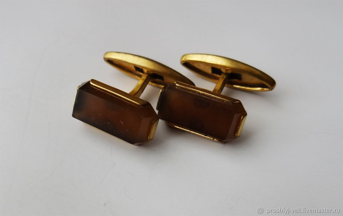 Cufflinks, obsidian, 1964, Vintage cufflinks, Moscow,  Фото №1