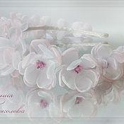 Свадебный салон ручной работы. Ярмарка Мастеров - ручная работа Ободок с цветами Воздушный. Handmade.