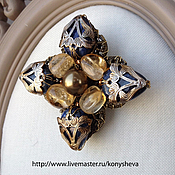 Украшения handmade. Livemaster - original item Fancy brooch in the shape of a cross.. Handmade.