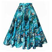 Одежда ручной работы. Ярмарка Мастеров - ручная работа Юбка Ocean 65 см с карманами. Handmade.